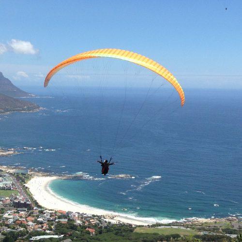 Paragliding off Lion's Head