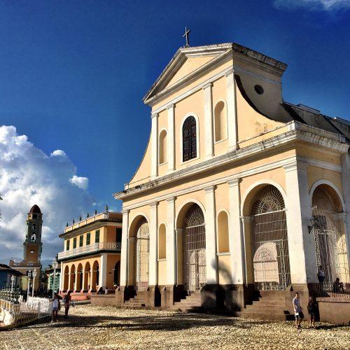 Church in Plaza Mayor, Trinidad, Cuba
