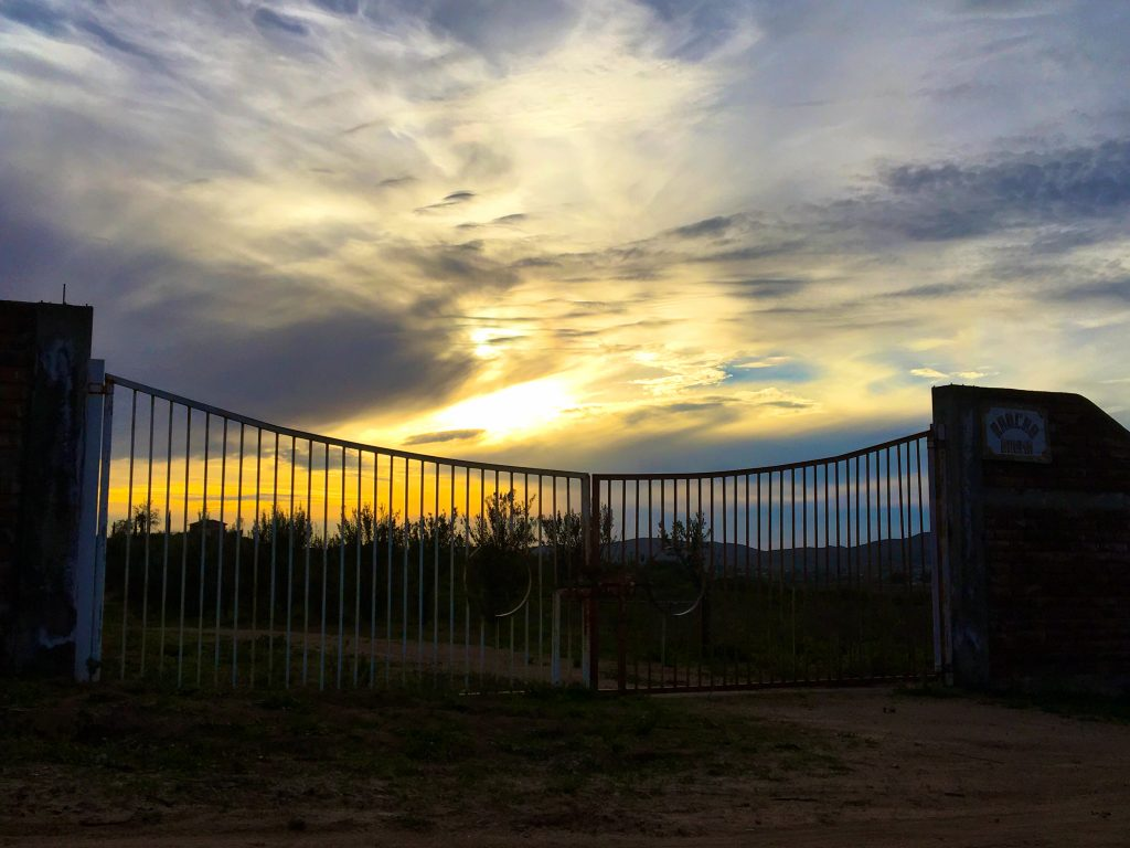 Gate outside Corona del Valle